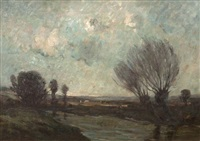 a windy day, barbizon by nathaniel, r.h.a. hill