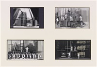 four set designs for company by boris aronson