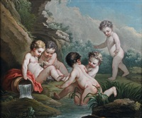 putti se baignant by french school (18)