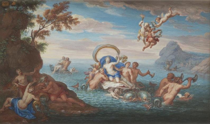 le triomphe damphitrite by noël nicolas coypel