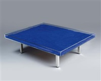 table bleue (after model by yves klein) by rotraut