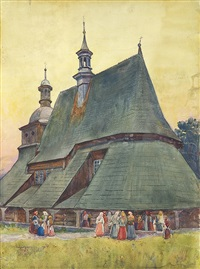 old church in sekowa by aleksander augustynowicz