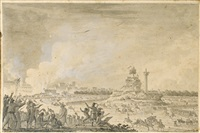 fête militaire au champs-de-mars, 30 verdémiaire an iii (soit 21 octobre 1794) by ferdinand bourjof