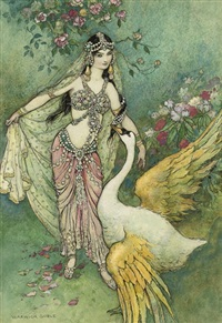 leda and the swan by warwick goble