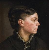 portrait de femme by basile lemeunier