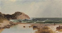 beach scene at eagle rock, manchester-by-the-sea by john frederick kensett