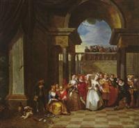 scène de danse dans un palais by jacob andries beschey