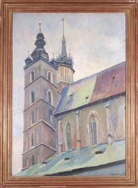 wieża kościoła nmp w krakowie by stanislaw kamocki