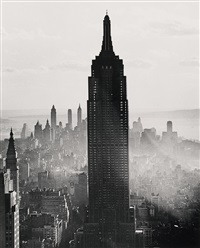 empire state building, new york by andreas feininger