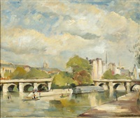 pont neuf in paris by heinrich franciscus antheunis