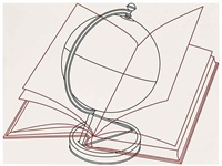 globe and book by michael craig-martin
