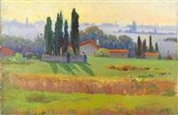 paysage by evgeniy ivanovich pospolitaki