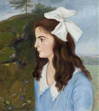 portret dziewczynki by vlastimil hofmann