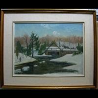 paysage d'hiver st. canut by narcisse poirier