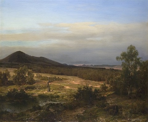in the low mountain range by karl friedrich lessing
