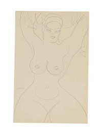 standing female nude by gaston lachaise
