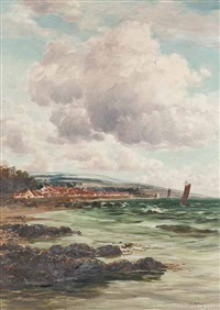 the east coast at dysart looking towards serf's tower by john glass