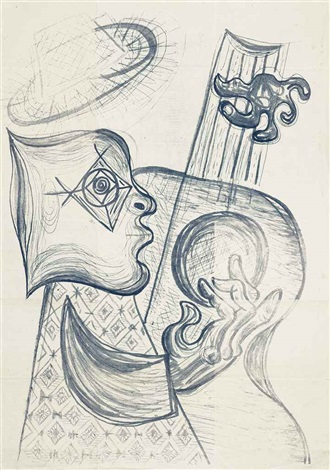 guitar player by john banting