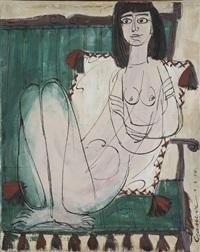 femme nue sur un fauteil by costas grammatopoulos