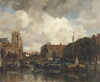 a view of dordrecht by jacob henricus maris
