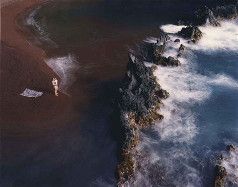 kaihalulu red sand beach kauiki maui hawaii by virginia beahan