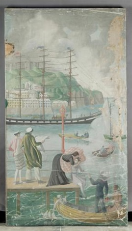 an english holiday dover harbour by mary adshead