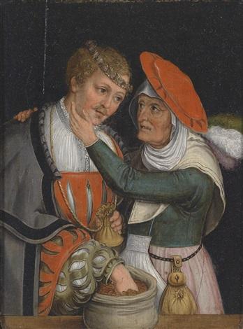 ein ungleiches liebespaar by lucas cranach the elder