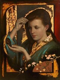 girl in a kimono by ken hamilton
