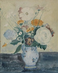 floral still life by frederick carl frieseke