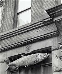 fish sign, new york city, ny by andré kertész