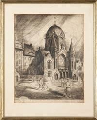 synagoga w królewcu by walter koschnitzky