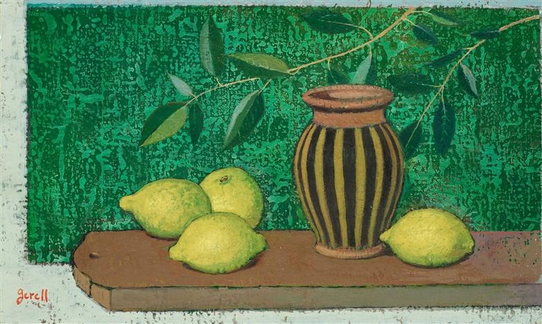 randig kruka och citroner by greta gerell