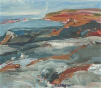 monhegan coast by alan gussow
