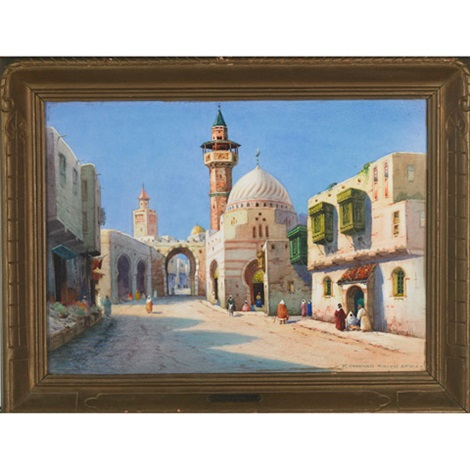 street in tunis a gateway in tangier 2 works by robert herdman smith