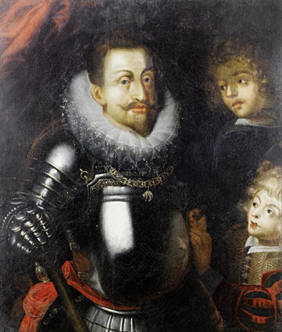 portrait of a nobleman emperor rudolph iiin armour wearing the order of the golden fleece by hans von aachen