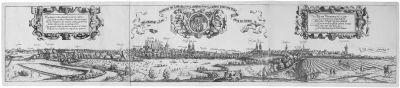 wahrhafftige contrafactur der löblichen reychstat nüremberg gegen den nidergang der sonnen ansicht der stadtnürnberg gegen westen in 3 parts by hans sebald lautensack