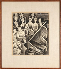 a salon recital of modern music (vanity fair, feb 1929, 54) by miguel covarrubias