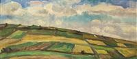 landschaft mit wolken by vaclav rabas