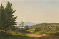 road scenery near lake george by sanford robinson gifford