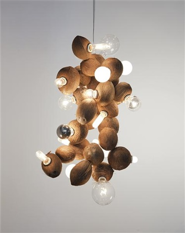coconut chandelier no25 by kelley walker and wade guyton