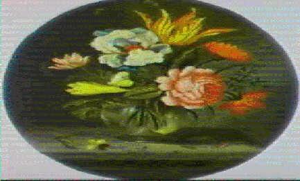 tulipe iris et rose dans un vase by abraham bosschaert