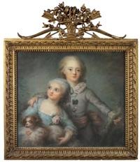 portrait de deux enfants du comte d'artois by anne rosalie filleul