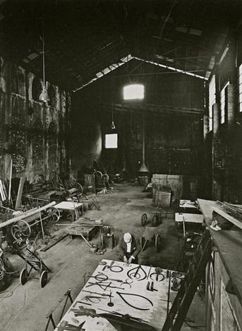 David Smith In His Voltri Studio (3 Works) By Ugo Mulas