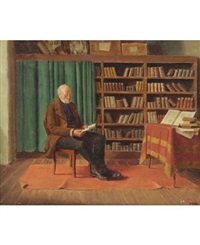 in the library by ludwig valenta