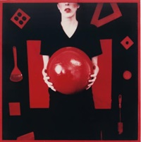 untitled (from the red series) by barbara astman