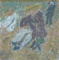 personnages sur la plage by jean pougny