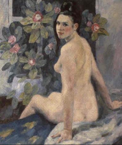 nue et les fleurs by nadejda noukalo