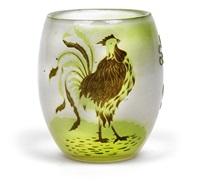 vase le seigneur du village by cristallerie d'emile gallé