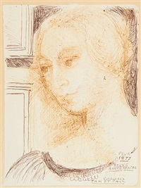 jeune femme by paul delvaux