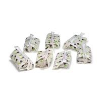 sieben werbe- / kosmetiktaschen mit anhängern / ohrringen by alessandro mendini